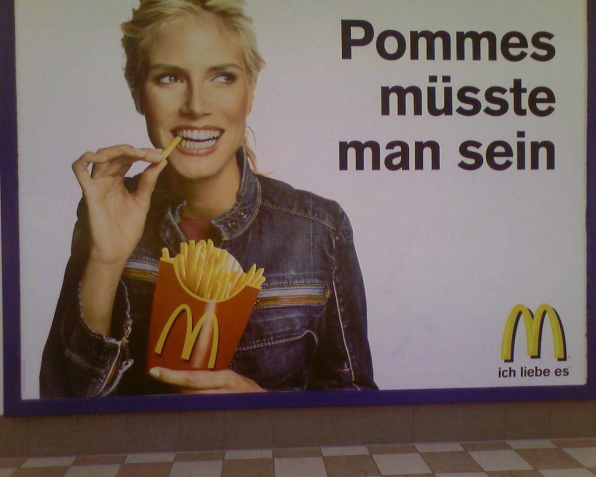 Heidi Klum isst gerne Pommes, aber die Gewinnerinnen von Germany's Next Topmodel müssen trotzdem superschlank sein.