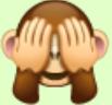 So sieht der Affen-Emoji aus.