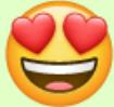 So sieht der Herzaugen-Emoji aus.