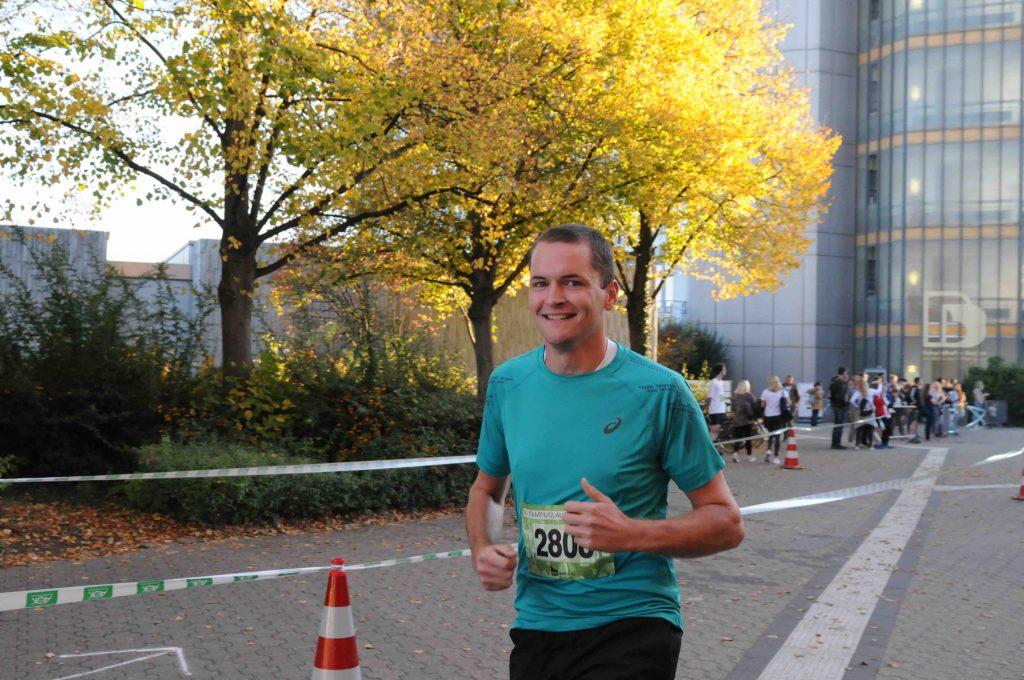 Lehramtsstudent Oliver beim Campuslauf der TU Dortmund