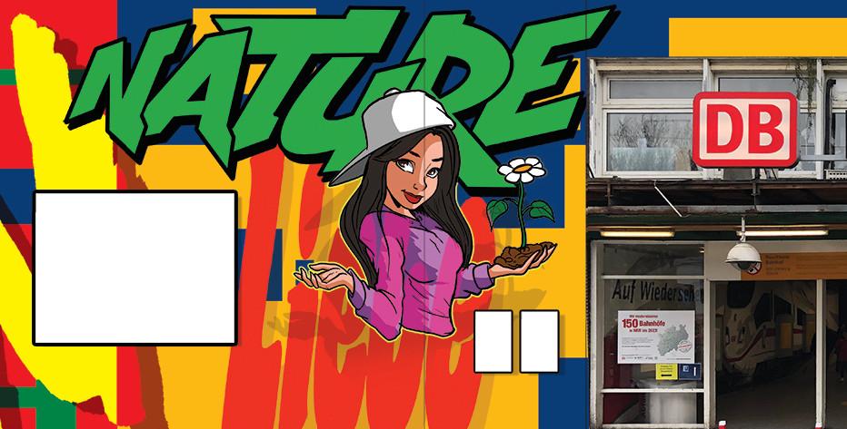 Dortmund Hbf: Buntes Graffito entsteht am Nordausgang