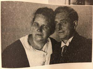 Martinszug Käthe Kaufhold und ihr Mann