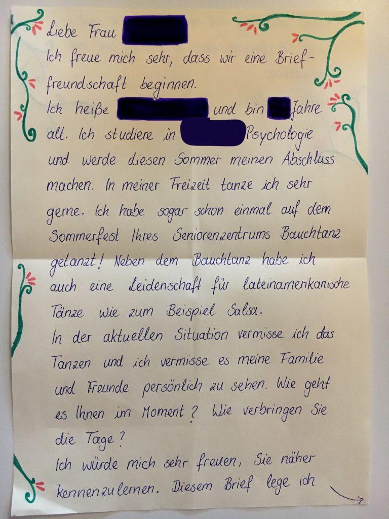 frau brief schreiben kennenlernen)